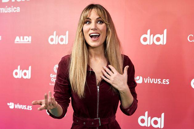 Edurne en los Premios Cadena Dial en febrero de