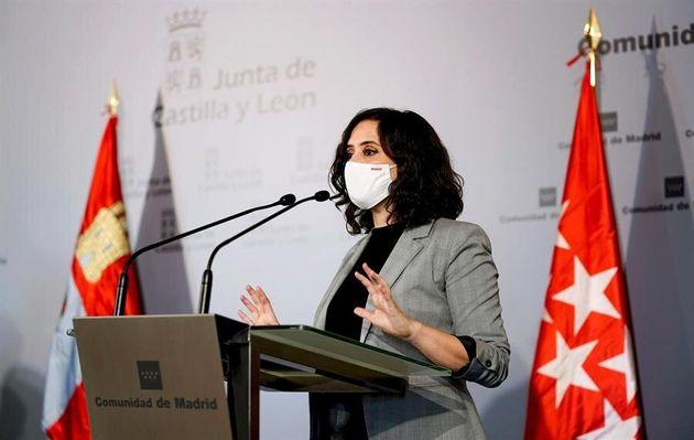 La presidenta de la Comunidad de Madrid, Isabel Díaz Ayuso, el pasado 28 de octubre en