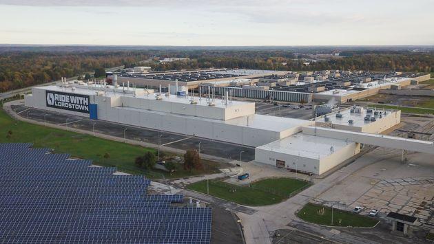 La fábrica de Lordstown Motors, ubicada en una parte de donde antiguamente estaba la factoría...