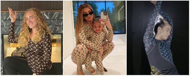 De gauche à droite: Adele, Kylie Jenner et sa fille, Dua