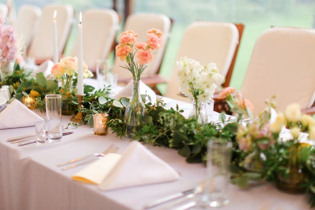 A decorated table is seen here in this undated stock photo. Health officials are urging anyone who attended...
