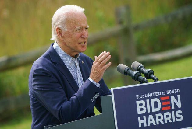 Democratic presidential nominee Joe Biden campaigns in Delaware on Sept. 14. Biden has promised to put...