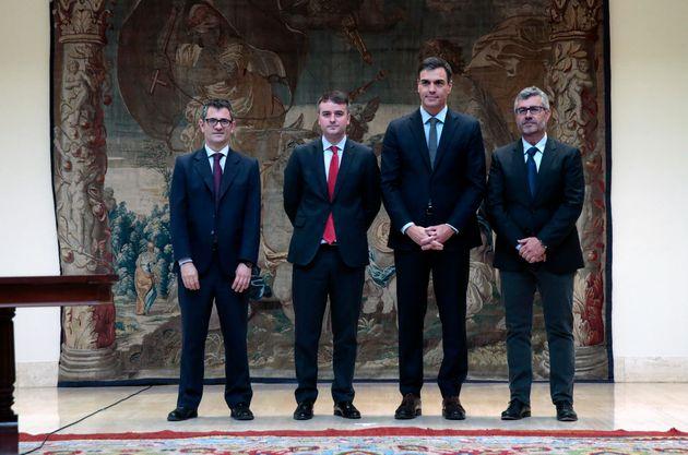 Bolaños, Iván Redondo, Pedro Sánchez y Miguel Ángel