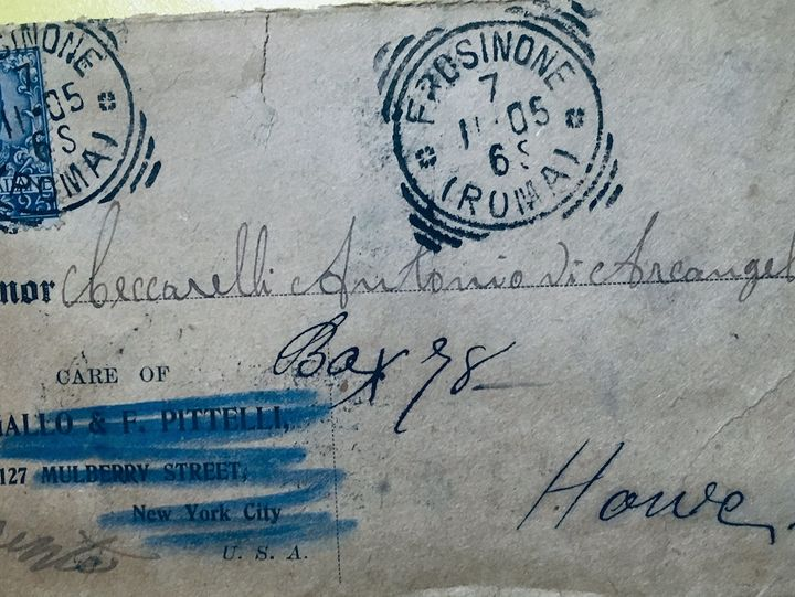 This letter, sent in 1905 to Antonio Ceccarelli in Howe, Pennsylvania, from his father in Northern Italy, never reached its d