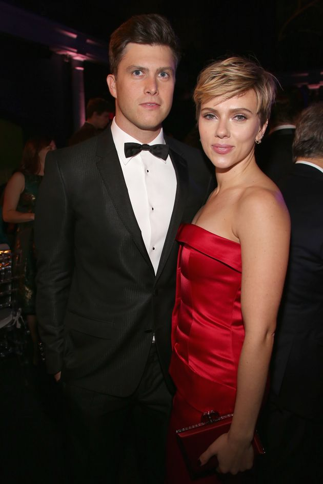 Colin Jost and Scarlett Johansson made their debut as a couple at the Museum Gala at the American Museum...