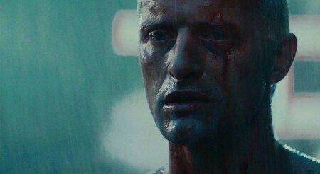 Fotograma de Rutger Hauer interpretando al androide Roy Batty de Blade