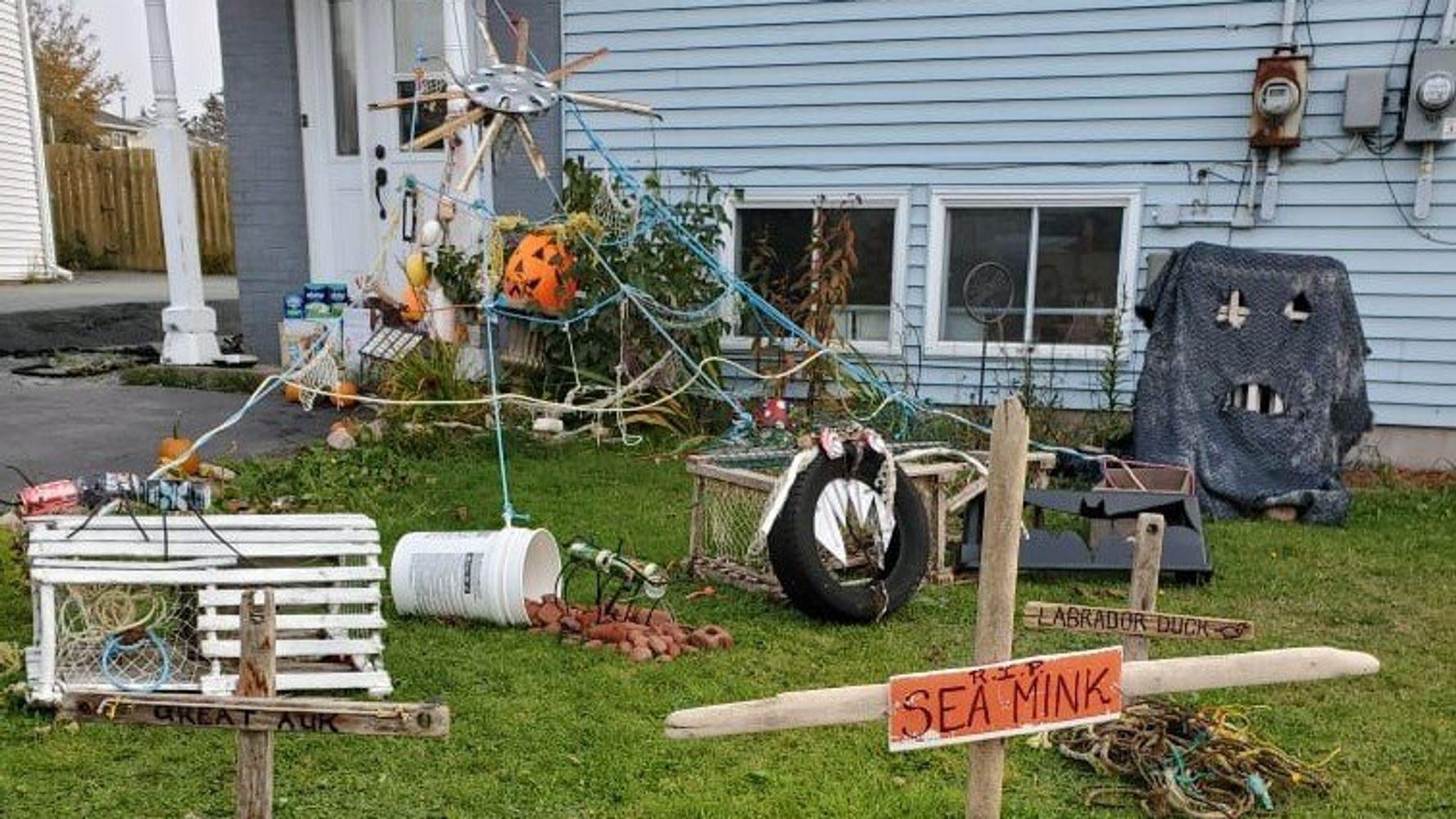 This Nova Scotia Woman Transforms Ocean Trash Into Halloween Decor