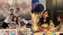 김보미가 영화 '써니' 절친들과 함께한 베이비샤워 현장