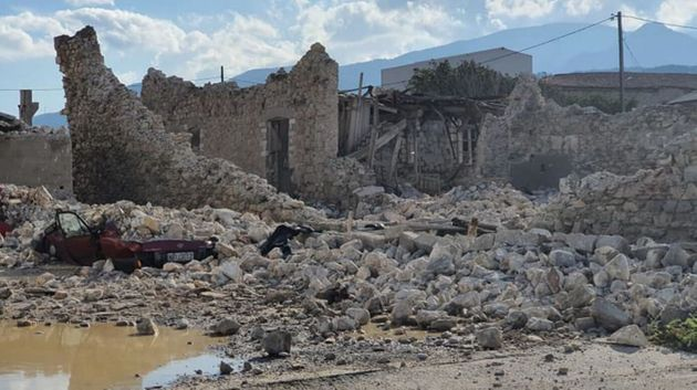 Εικόνες και βίντεο από τον σεισμό στη Σάμο, καταρρεύσεις κτιρίων και