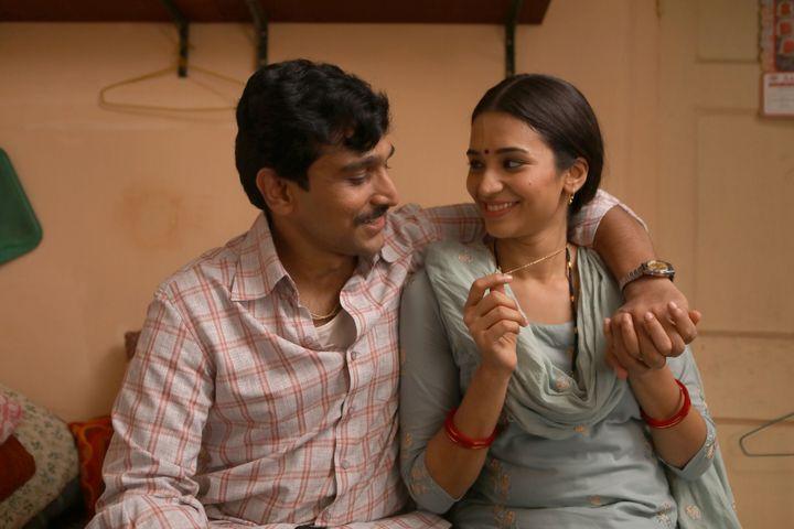 Pratik Gandhi and Anjali Barot in 'Scam 1992'