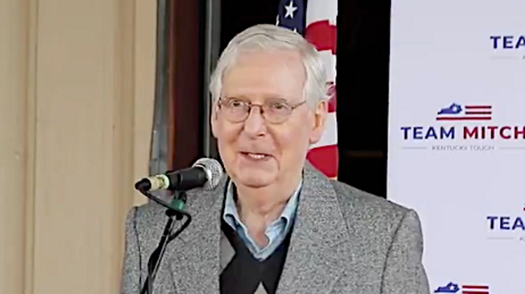 Mitch McConnell Takes A Cheap Swipe At Hillary Clinton