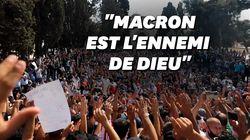 À Jérusalem, des milliers de Palestiniens manifestent contre Macron et les