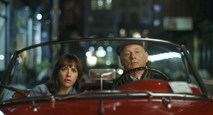 "Rashida Jones and Bill Murray in ""On the Rocks."""