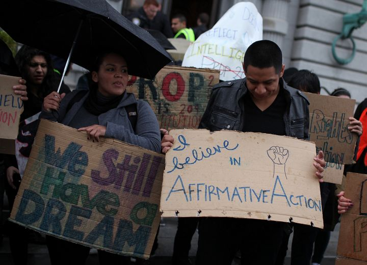 People protested Prop 209, California's anti-affirmative action law, in San Francisco back in 2012. Eight years later, voters