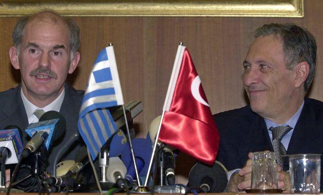 Οι υπουργοί Εξωτερικών το 1999, Γιώργος Παπανδρέου και Ισμαήλ Τζεμ.