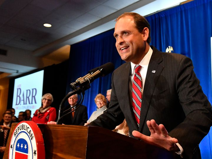 Even if McGrath loses to McConnell, her campaign could help Democrat Josh Hicks upset GOP Rep. Andy Barr (pictured above) in