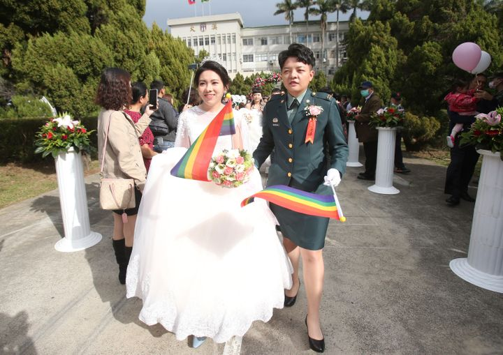 Taiwan is the only place in Asia to have legalized gay marriage, passing legislation in this regard in 2019. (AP Photo/Chiang