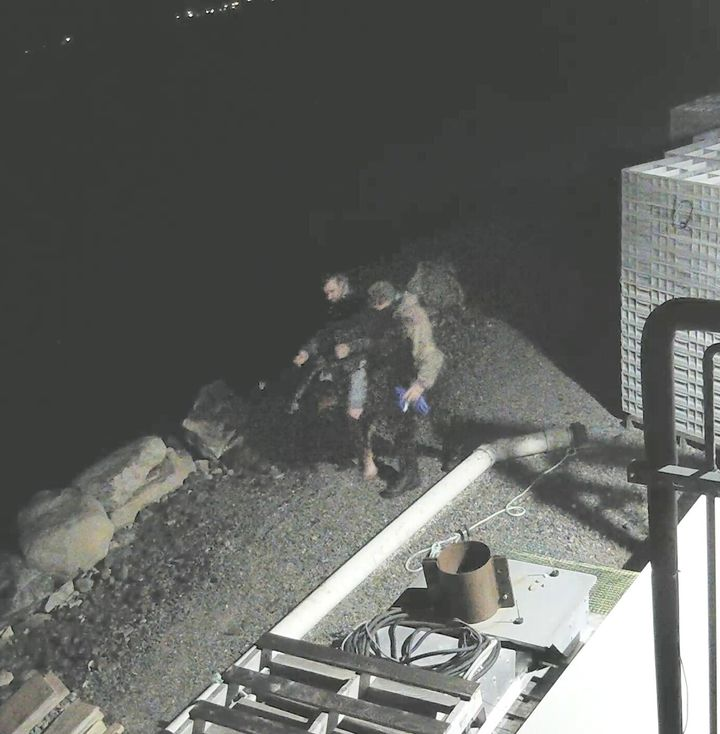 Yarmouth County RCMP has released photos, one is shown in this handout image, and video of persons of interest as it continues to investigate a suspicious fire that occurred at a fish plant in Middle West Pubnico, Nova Scotia.