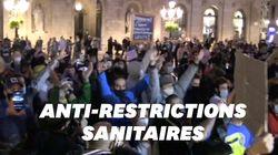 Une manif anti-couvre feu dégénère à Barcelone, plusieurs