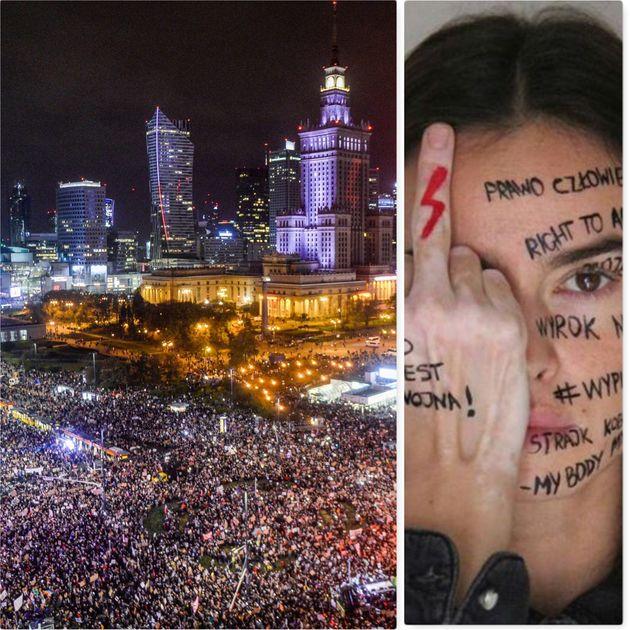 Polonia in marcia per il diritto all'aborto. Kasia Smutniak si unisce al