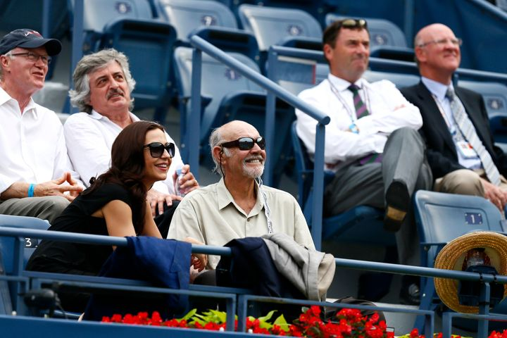 Sir Sean Connery watches the U.S. Open from the stands at Flushing Meadows, Sept. 6, 2012.