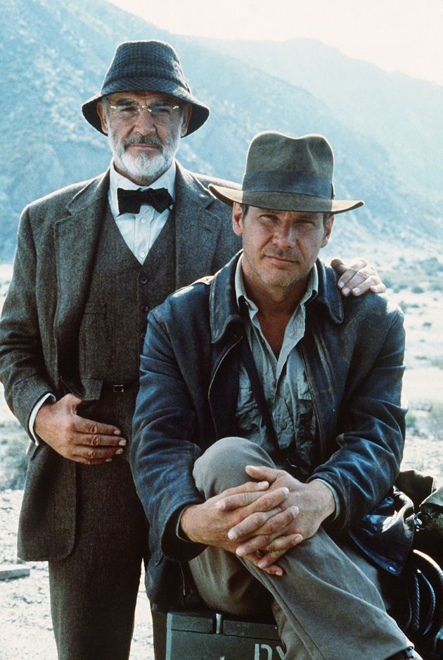 With his Indiana Jones co-star Harrison