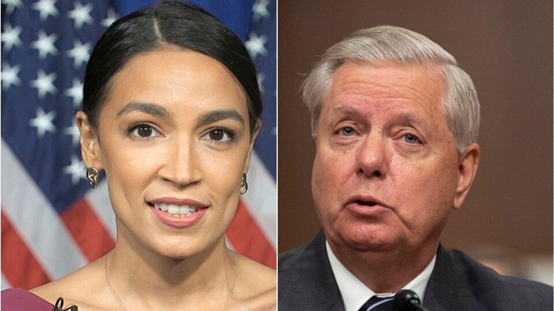 Alexandria Ocasio-Cortez Slams 'Spinelessness' Of Trump Acolyte Lindsey Graham