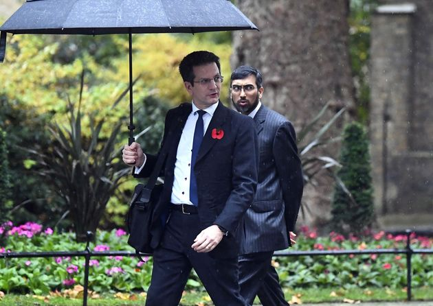 MP for Wycombe Steve Baker, left, arrives in Downing Street, for a cabinet meeting amid speculation Boris...