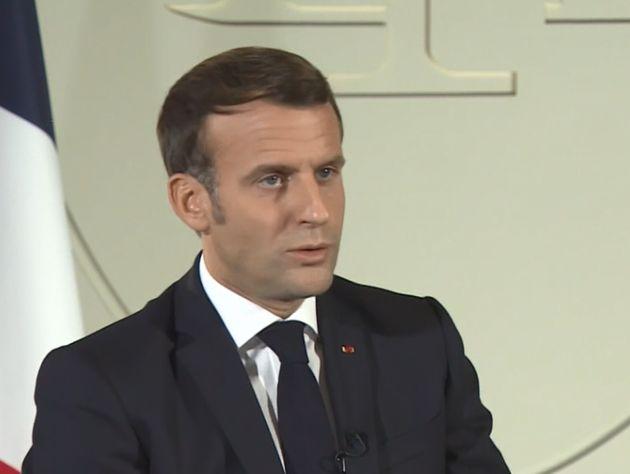 Emmanuel Macron interviewé par la chaîne qatarienne Al Jazeera, le 31 octobre