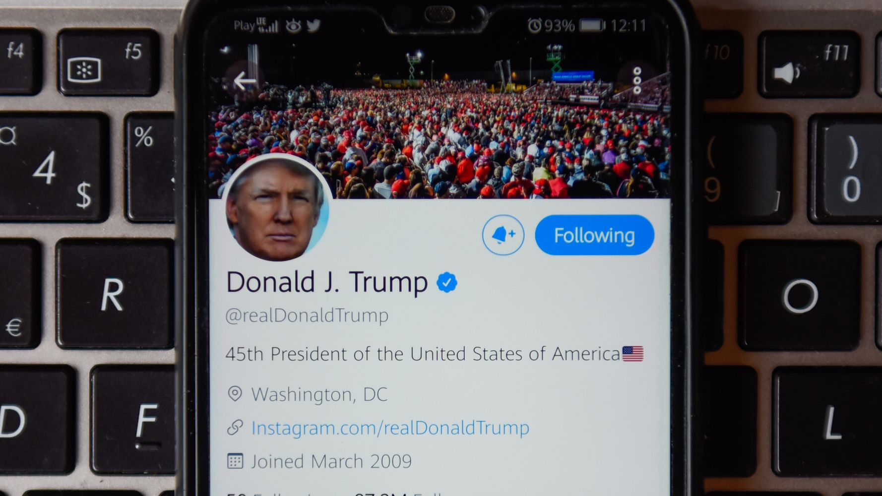 Twitter Account Posting Trump's Tweets Verbatim Has Been Flagged 4 Times