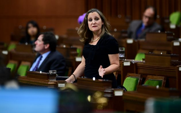 Minister of Finance Chrystia Freeland answers a question during question period in the House of Commons...