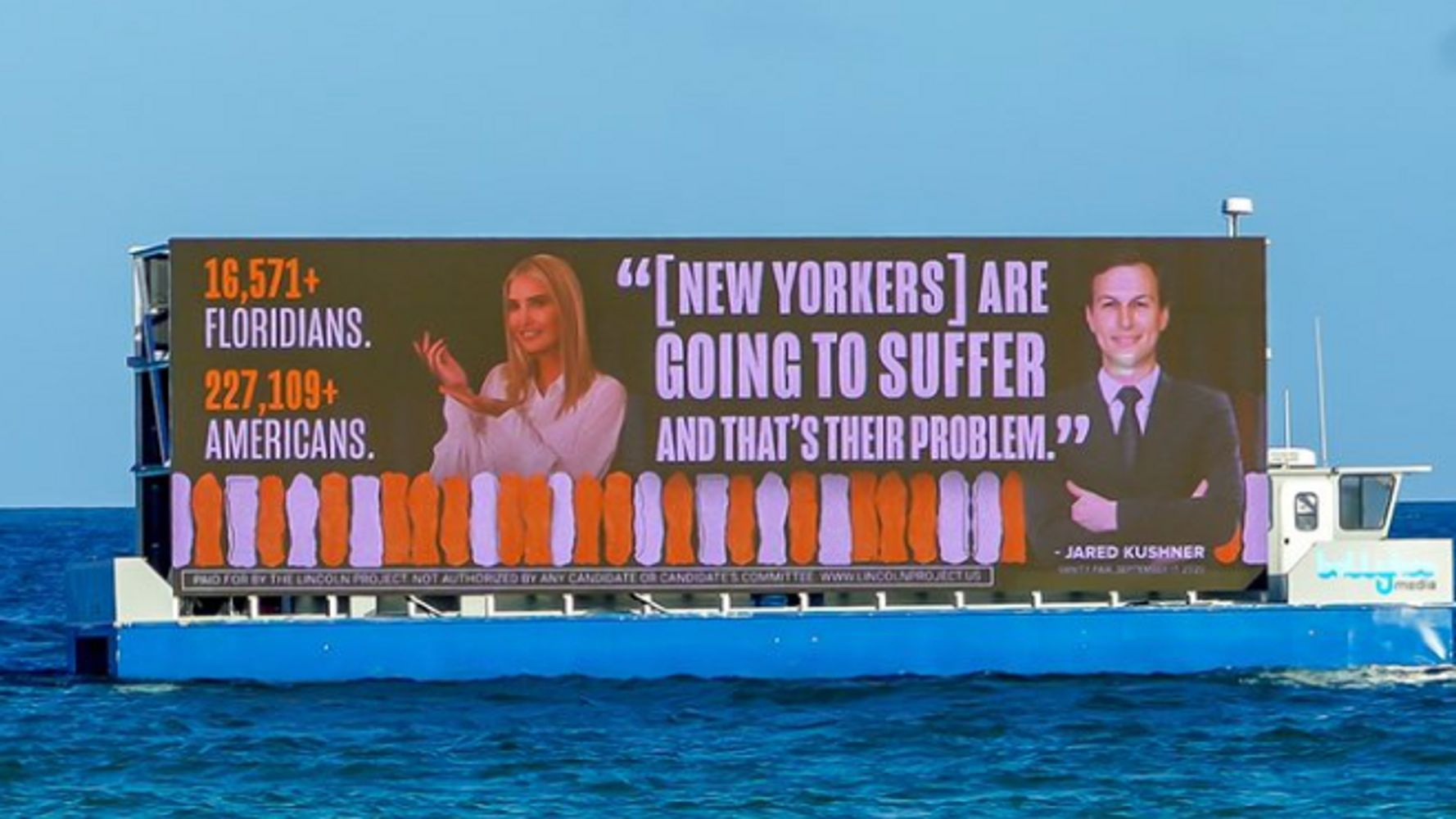 Billboards Taunting Ivanka Trump, Jared Kushner Sail Down To Mar-a-Lago