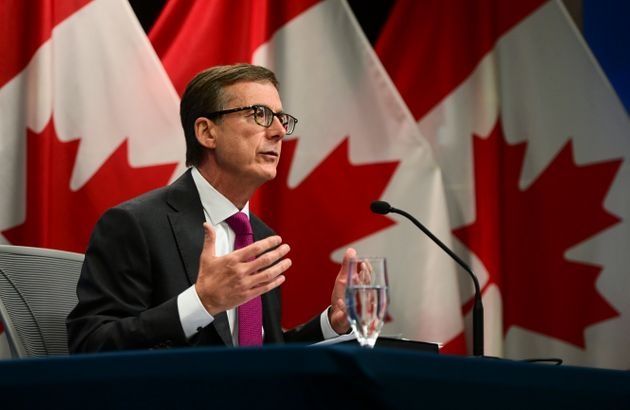 Bank of Canada governor Tiff Macklem at a press conference in Ottawa, Oct. 28,