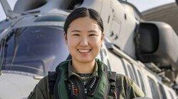 해병대 최초의 여군 헬기 조종사가 전한 말