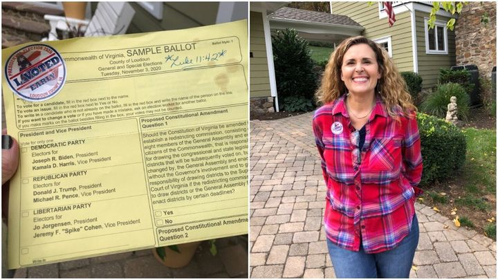 Becky Madigan is an evangelical Christian voter from Virginia. A Bible verse that helped her find clarity about her decision