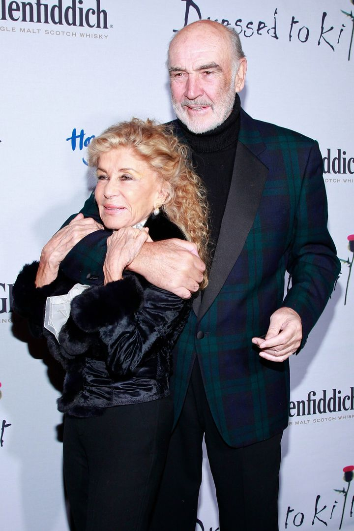 Sir Sean Connery and wife Micheline Roquebrune
