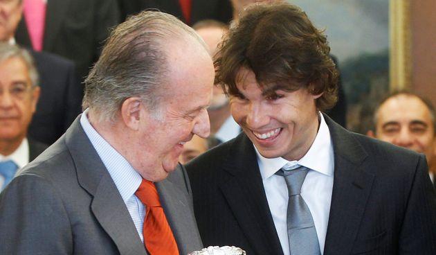 El rey Juan Carlos I y Rafa Nadal, en