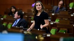 Freeland Says Her COVID-19 Test Came Back