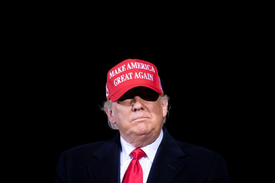 선거를 이틀 앞둔 1일, 도널드 트럼프 대통령이 유세를 하고 있다. 히코리, 노스캐롤라이나주. 2020년