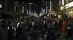 Crowd Of Unmasked Partygoers Flooded Vancouver's Streets On