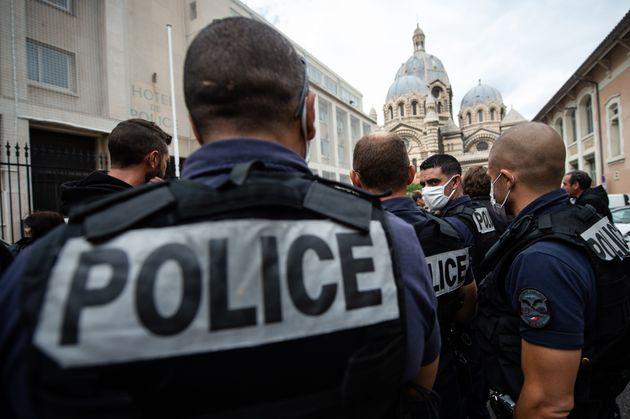 Manifestation de policier le 12 juin 2020 à Marseille (image d'illustration) (Photo by CLEMENT...