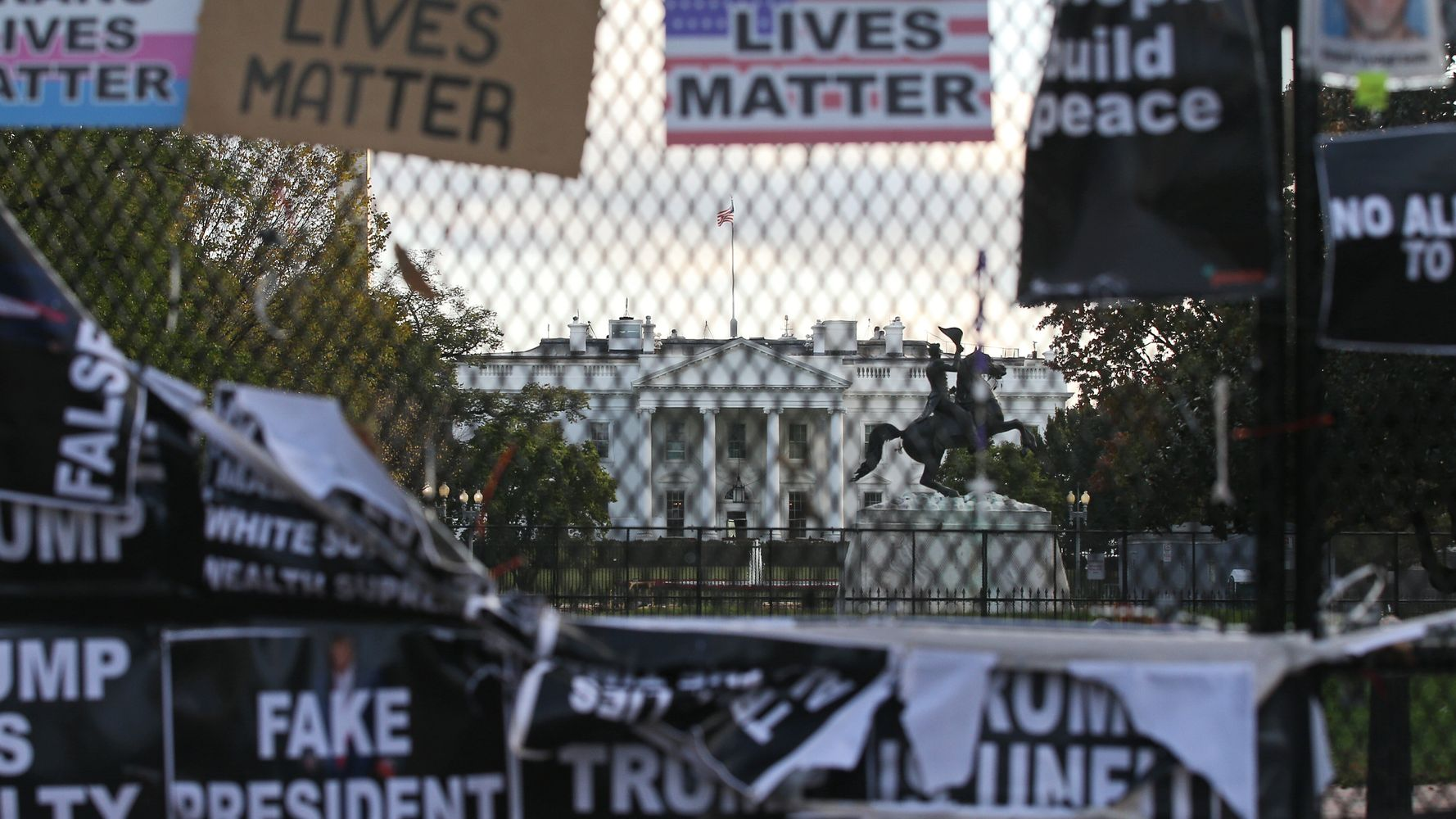 White House To Erect 'Non-Scalable' Fence Ahead Of Election Day
