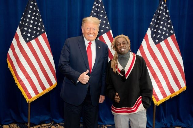 Donald Trump et Lil Wayne après une