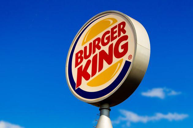 GLóRIA DE DOURADOS, BRAZIL - 2020/09/15: Burger King logo seen at one of its stores in Dourados, Mato...