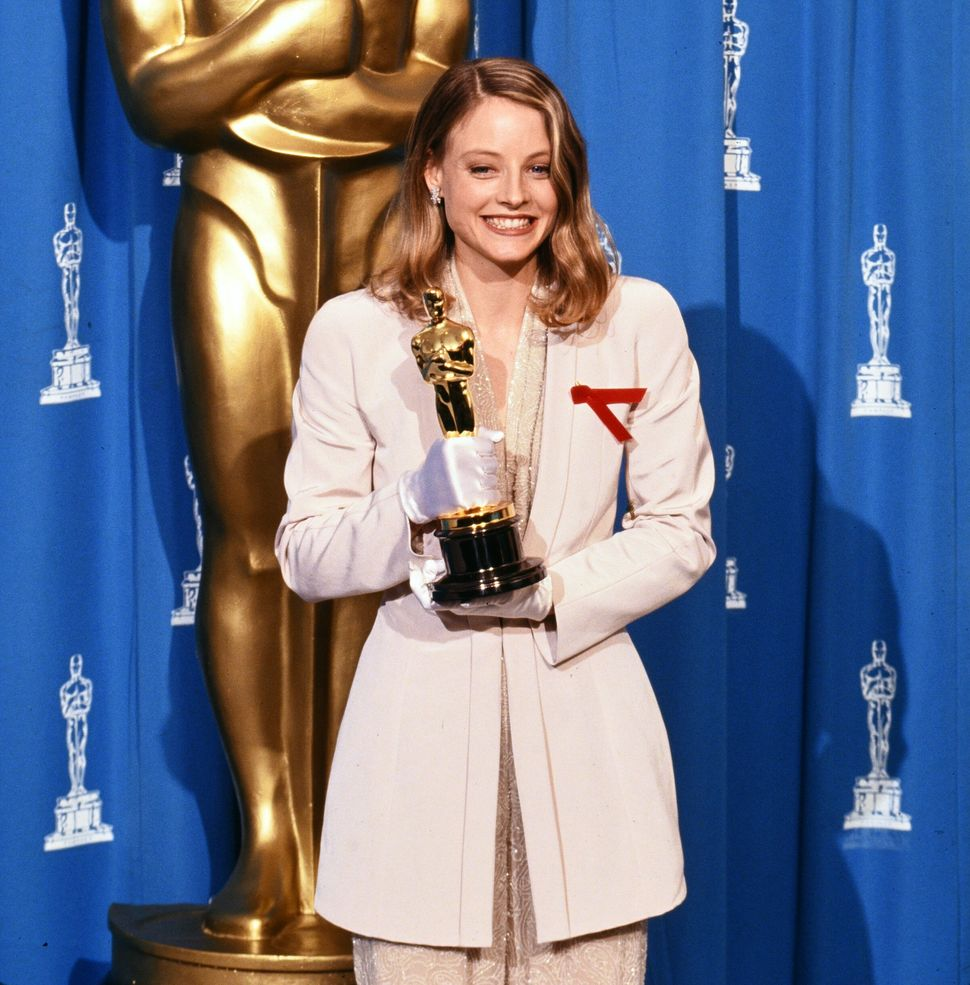 Jodie Foster with her Oscar for