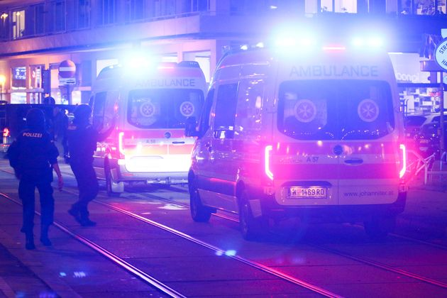 Emergency vehicles at the