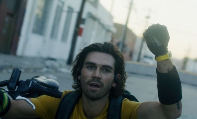 KJ Apa is pictured in a still from the trailer for