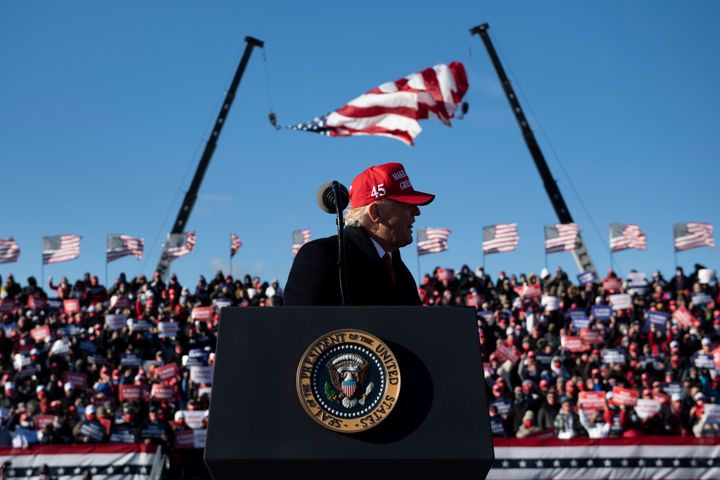 In President Donald Trump's final speech in Pennsylvania before Election Day, he painted a largely fabricated image of Joe Bi