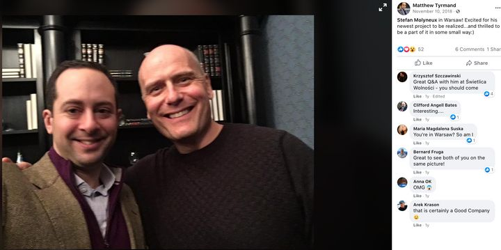 Project Veritas operative Matthew Tyrmand poses with Stefan Molyneux, a Canadian white nationalist responsible for radicalizi