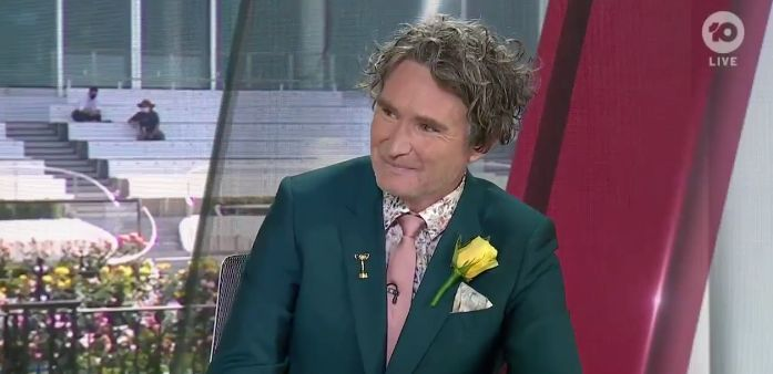 Comedian Dave Hughes has been criticised for appearing on Channel 10's Melbourne Cup coverage after previously saying he's a vegan.